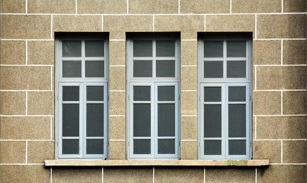 Antique grey wood window