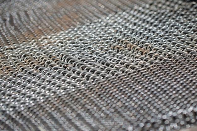 Текстура античной железной кольчуги
