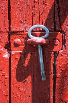 Antique iron key from a gate