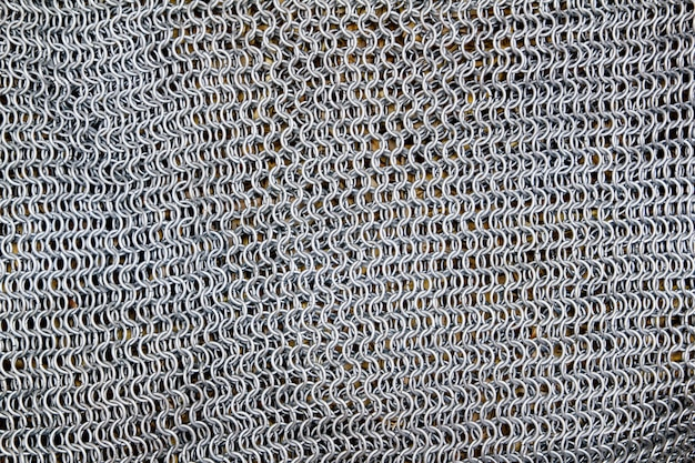 Antique knight metal sword protection net pattern