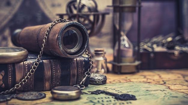 Antique marine binoculars
