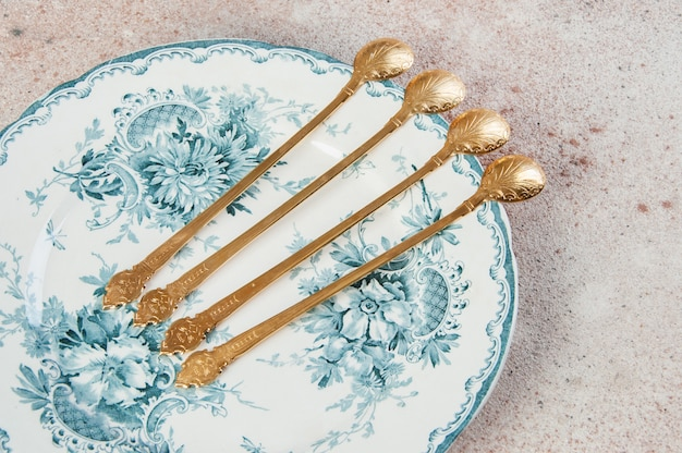 Antique metal cocktail spoons