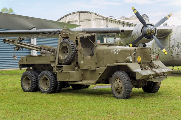 Antique military truck vehicle