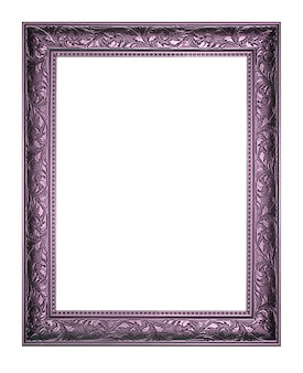 The antique purple frame on the white background.