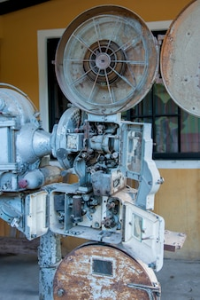 Antique simplex projector, barrio el centro, copan, copan ruinas, honduras