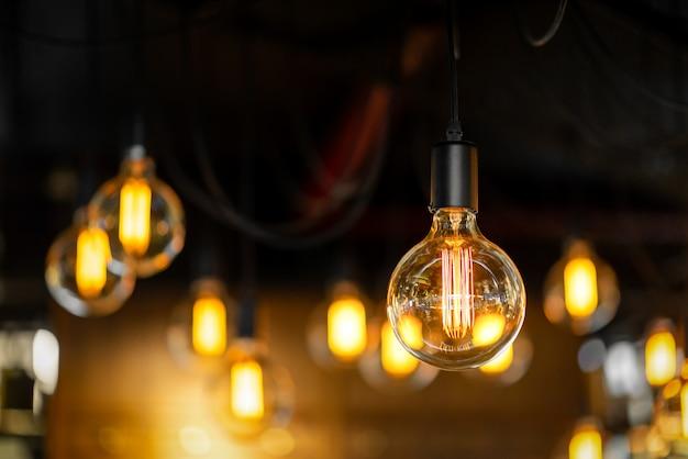 Antique style light bulbs