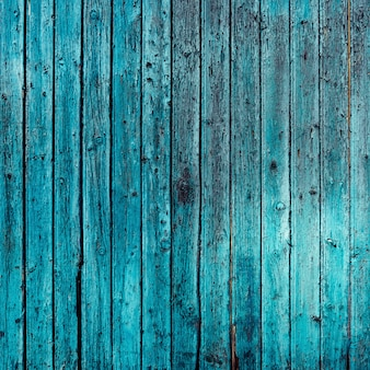 Antique turquoise wood