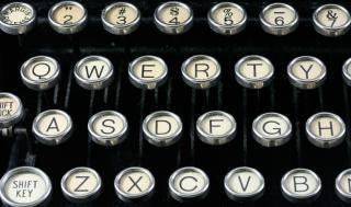 Antique typewriter close up  close