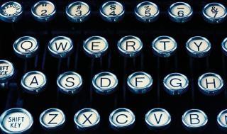 Antique typewriter close up  closeup