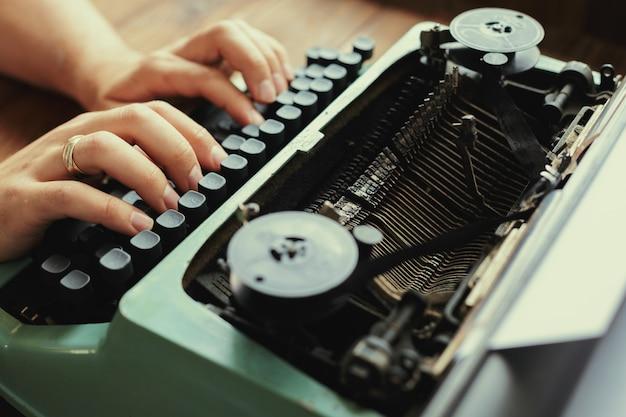 Antique typewriter machine