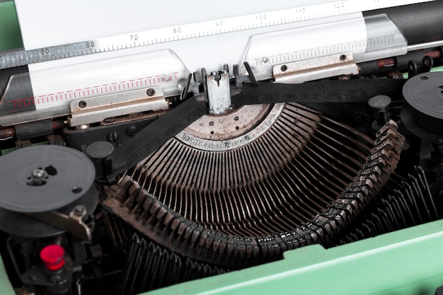 Antique typewriter. vintage typewriter machine