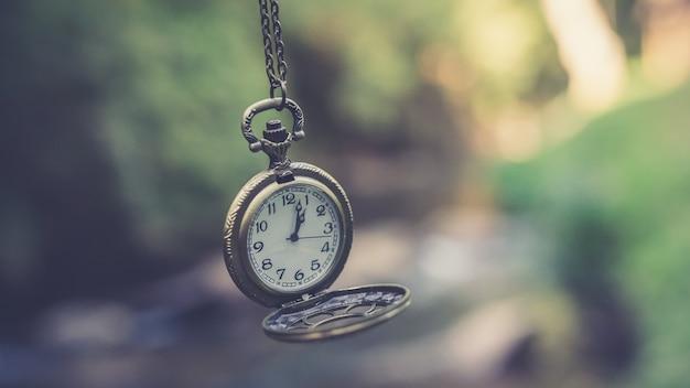 アンティーク時計ネックレス