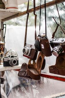 Antiques market objects arrangement