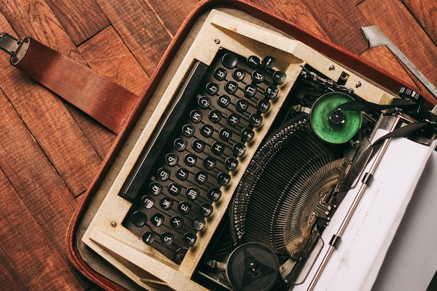 Antiques, old vintage typewriter