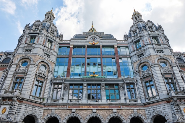 Antwerp central station from outside view