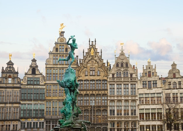 Antwerpen grote markt in old town, belgium