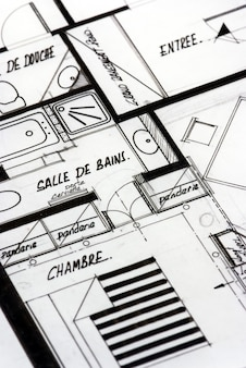 Apartment blueprints in french