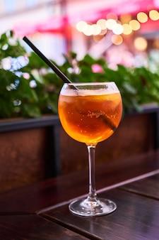 Aperol spritz cocktail aperitif outdoors