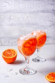 Aperol spritz, italian cocktail with orange