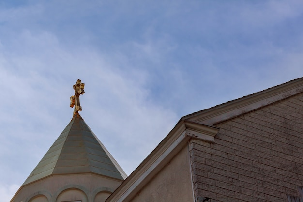 Apostolic armenian church cross sky