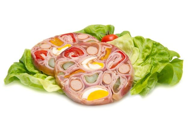 젤리의 차가운 고기 전채