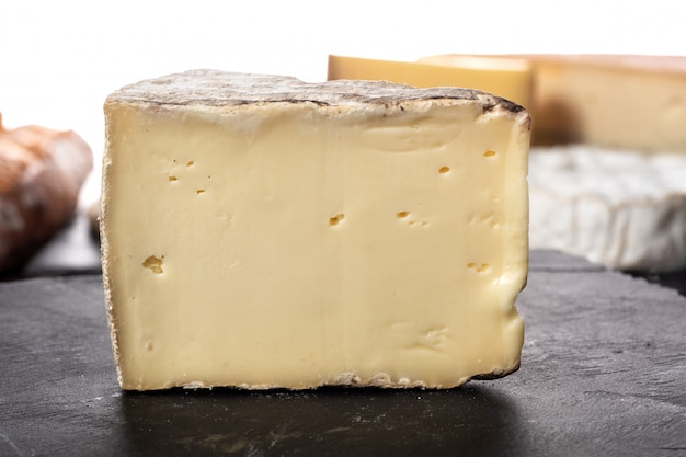 Appetizing cheese tomme mountain french
