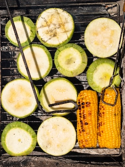 Appetizing grilled fresh vegetables