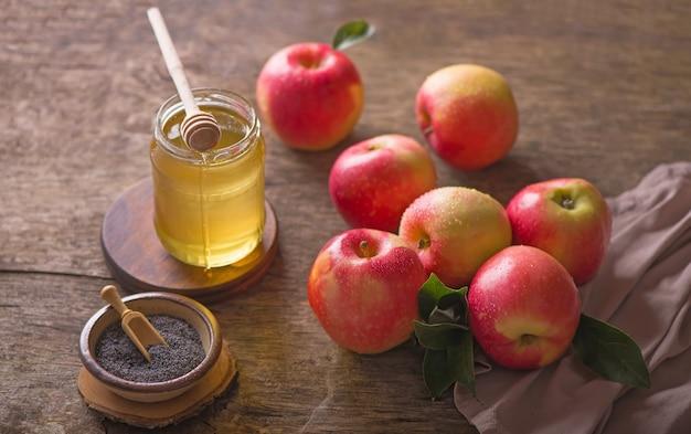 Яблоко и мед, традиционная еда празднования еврейского нового года