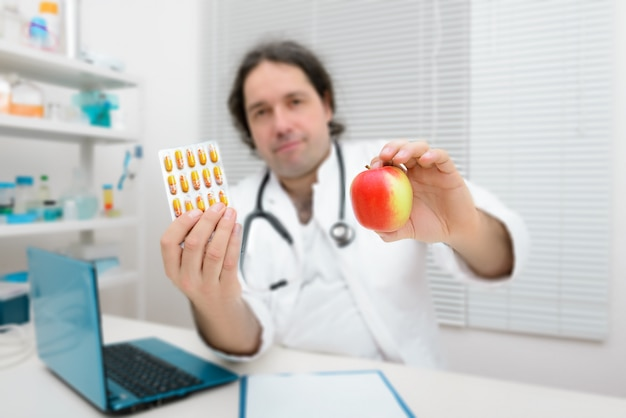 An apple as a healthy alternative to pills