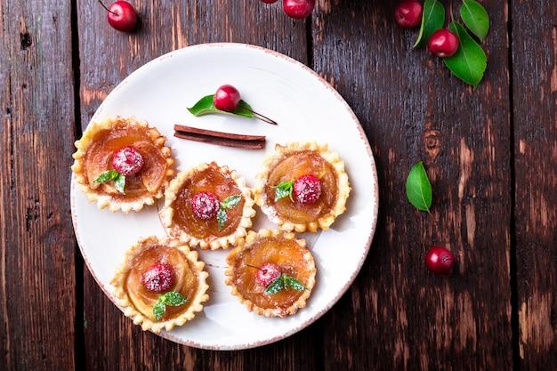 Apple caramel little tarts
