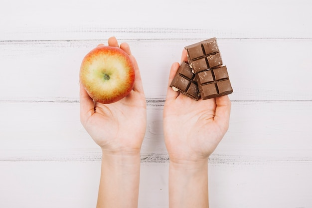 Apple and chocolate