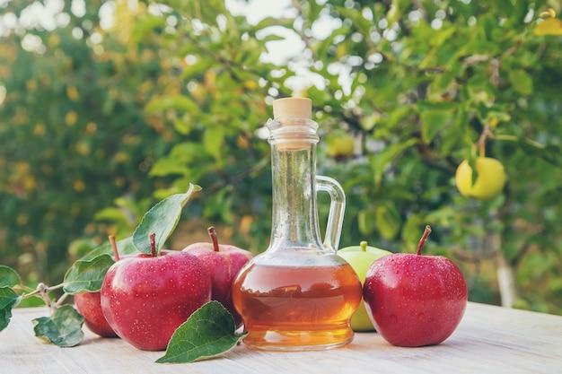 Apple cider vinegar in a bottle