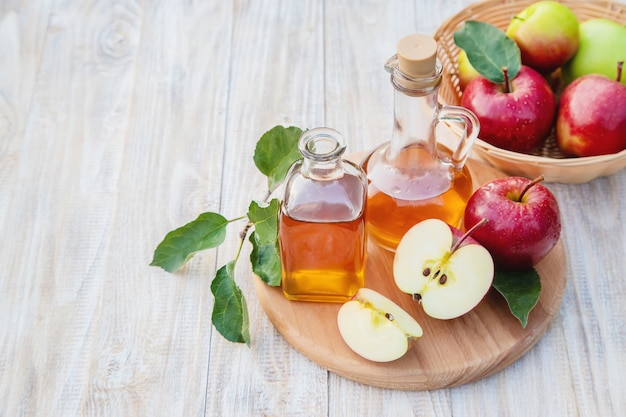 Apple cider vinegar in a bottle