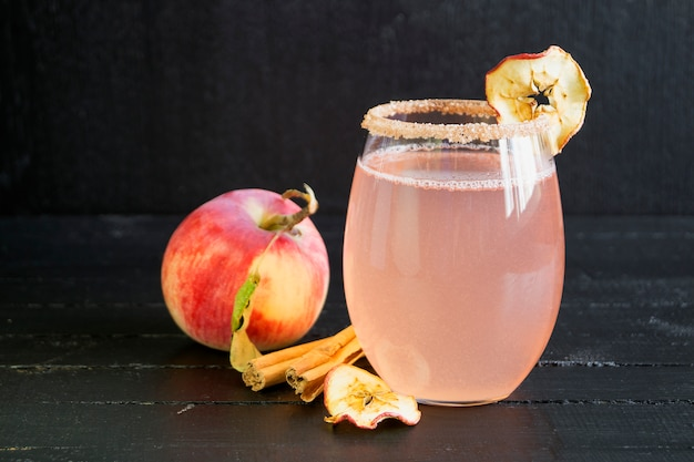 Apple cinnamon cocktail.