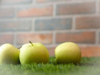 アップルは冬にガラスに落とす