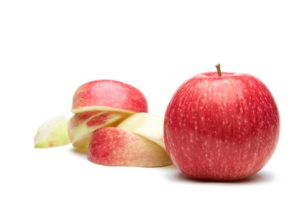 Apple fruit on white