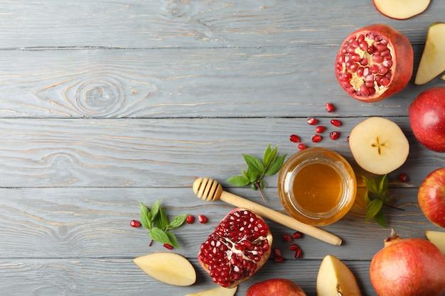사과, 꿀, 석류 나무, 평면도에. 가정 치료