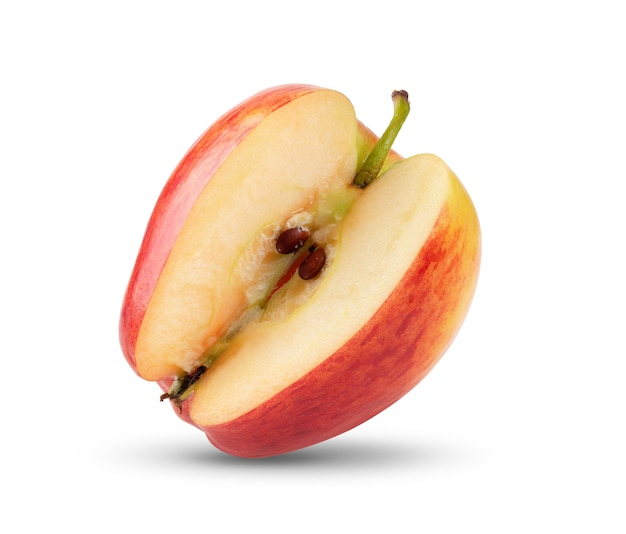 Яблоко, изолированные на белом фоне