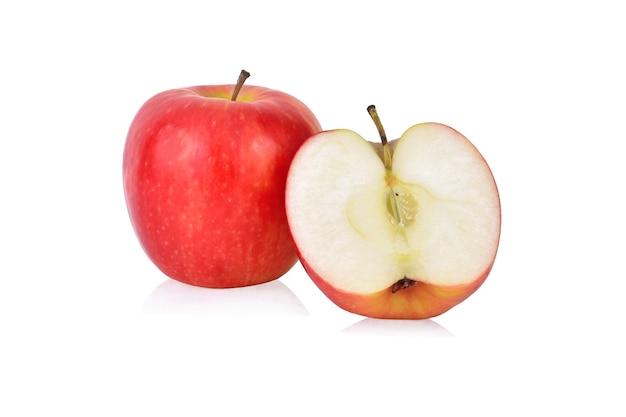 사과 흰색 배경에 고립