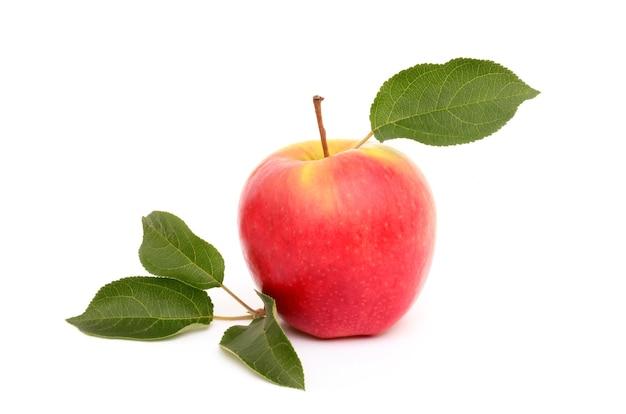 Яблоко на белом фоне