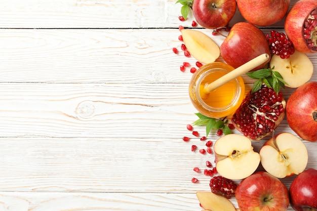 사과, 석류, 꿀 나무, 평면도