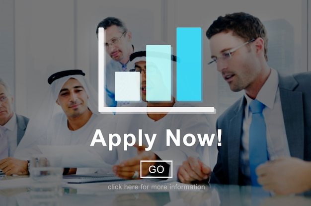 Apply now application employment work concept