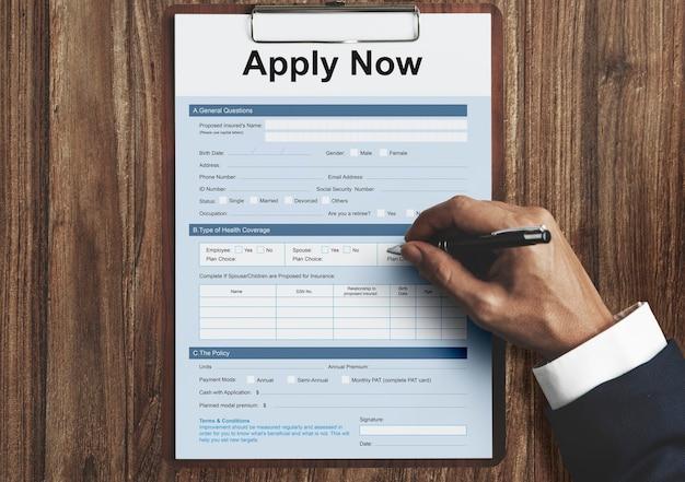 Applicare il concetto di reclutamento del modulo di domanda online