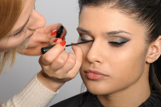 Applying perfect makeup