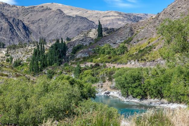 カワラウ渓谷へのアプローチ