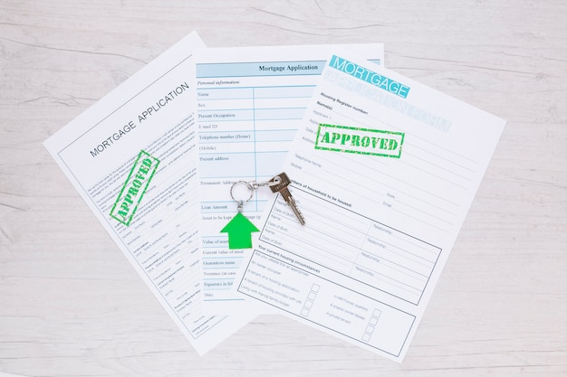 Approved applications on table