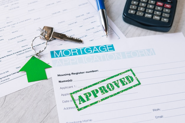 Approved blank of paper for mortgage