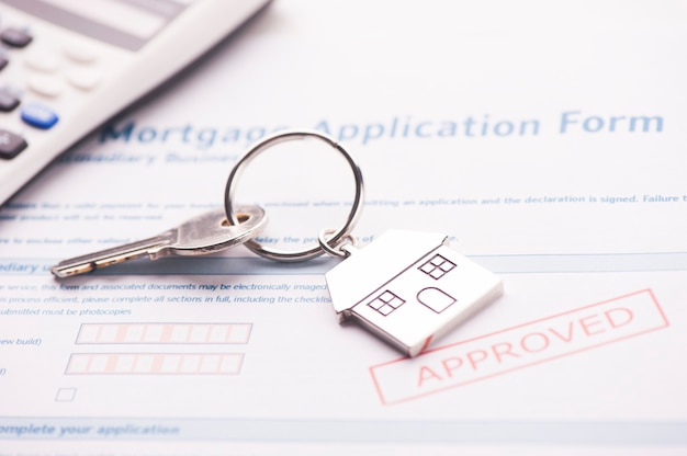 Approved mortgage loan agreement application