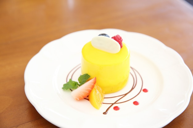 Торт абрикосовый кули