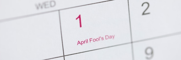 April fools day is marked on calendar april fools day celebration concept